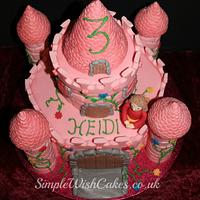 Pink Castle Birthday Cake by Stef and Carla (Simple Wish Cakes)