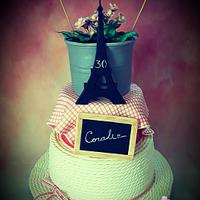 """Birthday cake """" La guinguette """""""