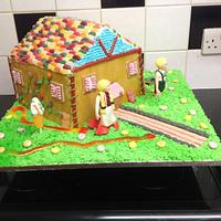 Hansel n gretel gingerbread house theme