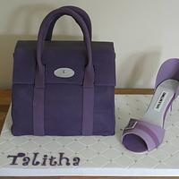 Handbag and Shoe Cake