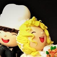 Wedding day in the kitchen 😂😂😂 by Clara