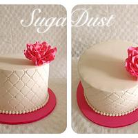 Simple & Elegant Quilted Cake by Mary @ SugaDust
