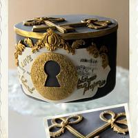 Lock&Keys Cake