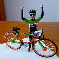 Figure bike and cyclist