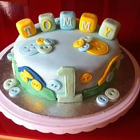 tommys first birthday cake