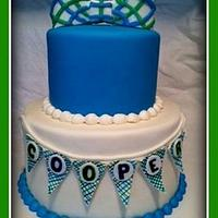 Bow Tie Baby Shower Cake