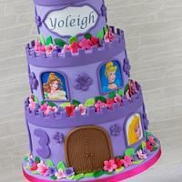 Princesses tower birthday cake