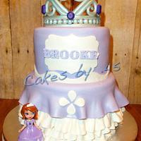 Sofia the 1st Theme Birthday Cake