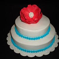 Teal and Red Anniversary