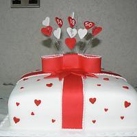 Heart cake by Anita's Cakes