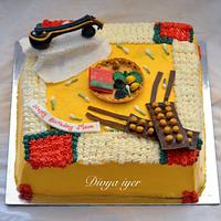 Indian traditional cake for dancer & veena artist