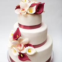 White&Wine wedding cake