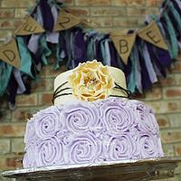 Purple & Ivory Bridal Shower