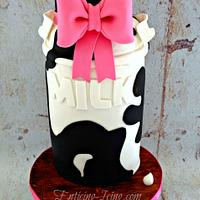 Old fashioned spotted milk jug cake