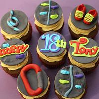 Rock climbing cupcakes by Hot Mama's Cakes