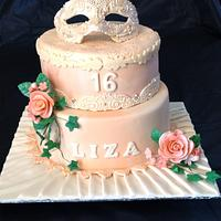 Masked ball cake