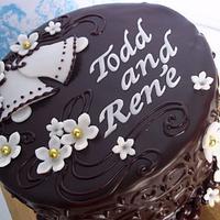 little chocolate wedding cake