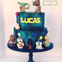 Star Wars 1st birthday cake