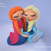 Fondant Anna and Elsa