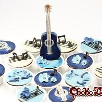 Classic Guitar Cupcakes