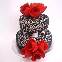 Tulip Wedding Cake by Mimi's Sweet Shoppe Amanda Burgess