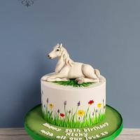 Horse themed cake.