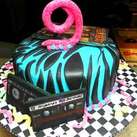 80's Dancy Party Cake by AveryCakes