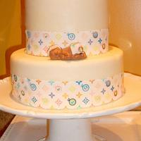 LOUIS VUITTON BABY SHOWER CAKE by Linda