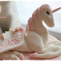 Unicorn 17th birthday cake