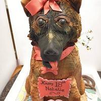 'CASSIE'  My first Dog cake