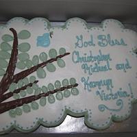 Baptism Cupcake Cake