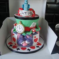 A very happy unbirthday! mad hatters cake