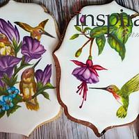 Hand painted Hummingbirds
