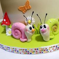 1 birthday cake for twins by KamiSpasova