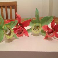 Hand made orchids