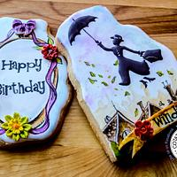 Mary Poppins Birthday Cookies