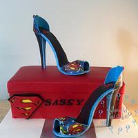 Supergirl stilettos for a super girl!