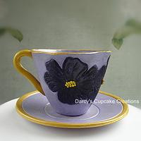 African Violet Sugar Teacup