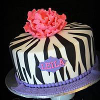 Zebra INspired Cake