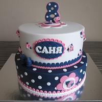 Ladybug and Dots Cake