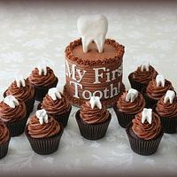 My First Tooth Cake and Cupcakes
