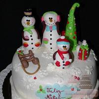 family fun snowman cake