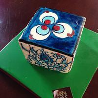 Hand painted İznik Tile Cake