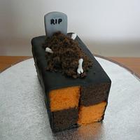 Halloween Battenberg Cake
