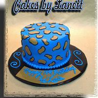 Blue Animal Print Cake by lanett