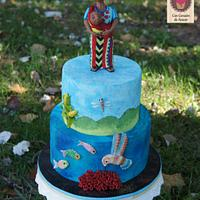 UNSA - Team Red Collab cake