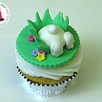 Easter Bunny Bum Cupcake Topper!