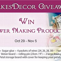 CakesDecor Giveaway 2019 #7: Flower Making Tools Giveaway