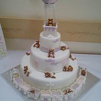 Christening cake for Annabelle