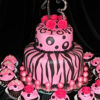 Zebra print on Hot Pink